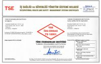 OHSAS 18001 Occupational Health and Safety Management System Certificate